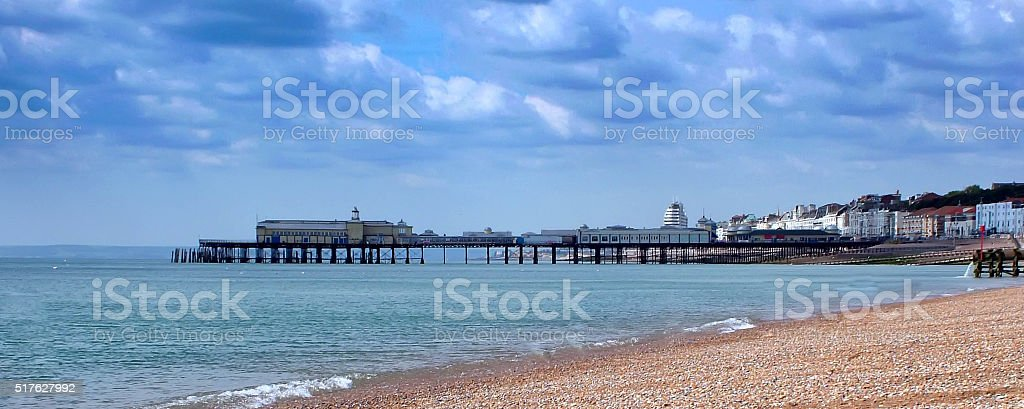 Hastings Pier before the Fire stock photo