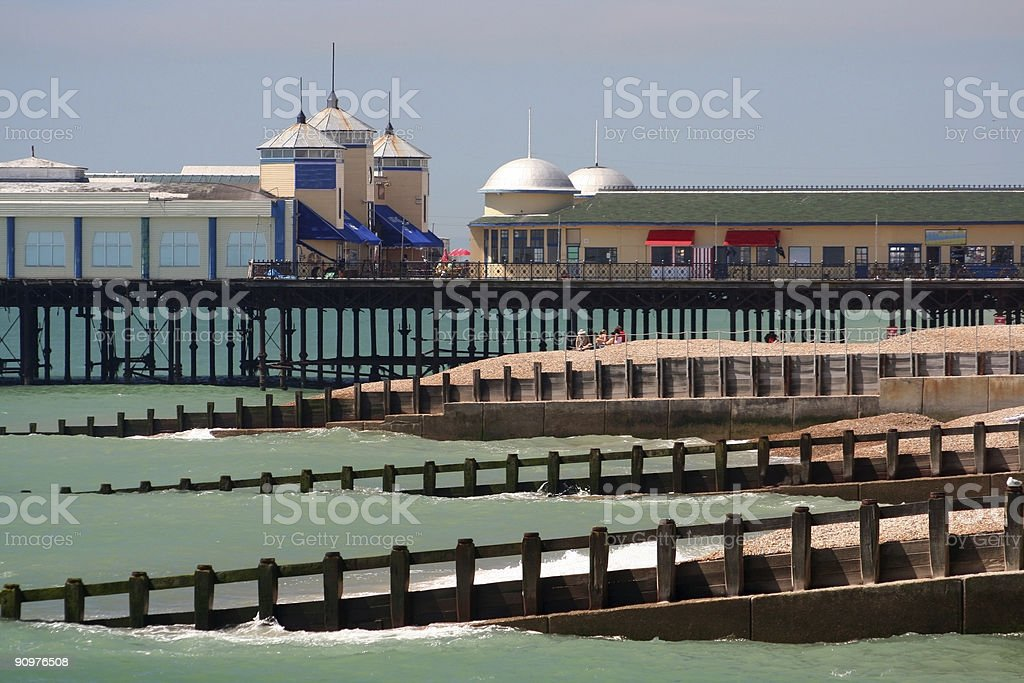 Hastings pier in East Sussex, England royalty-free stock photo