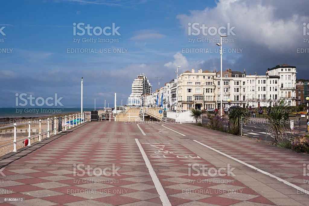 Hastings  promenade, East Sussex, England stock photo