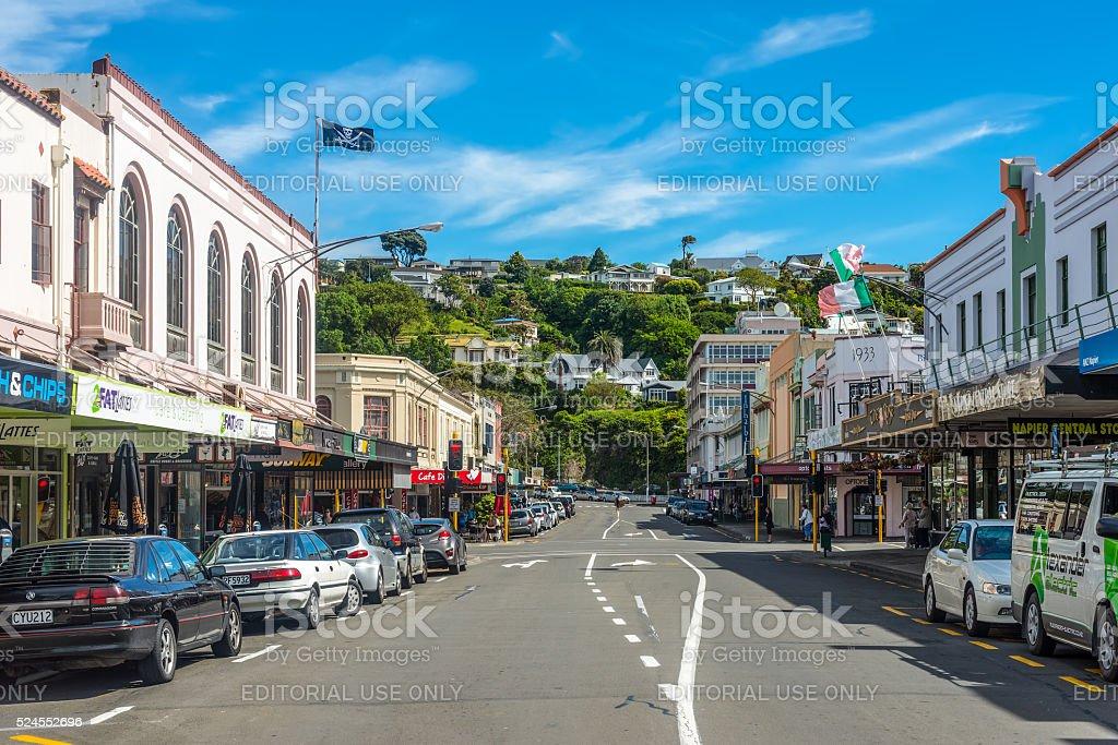 Hastings st Napier New Zealand stock photo