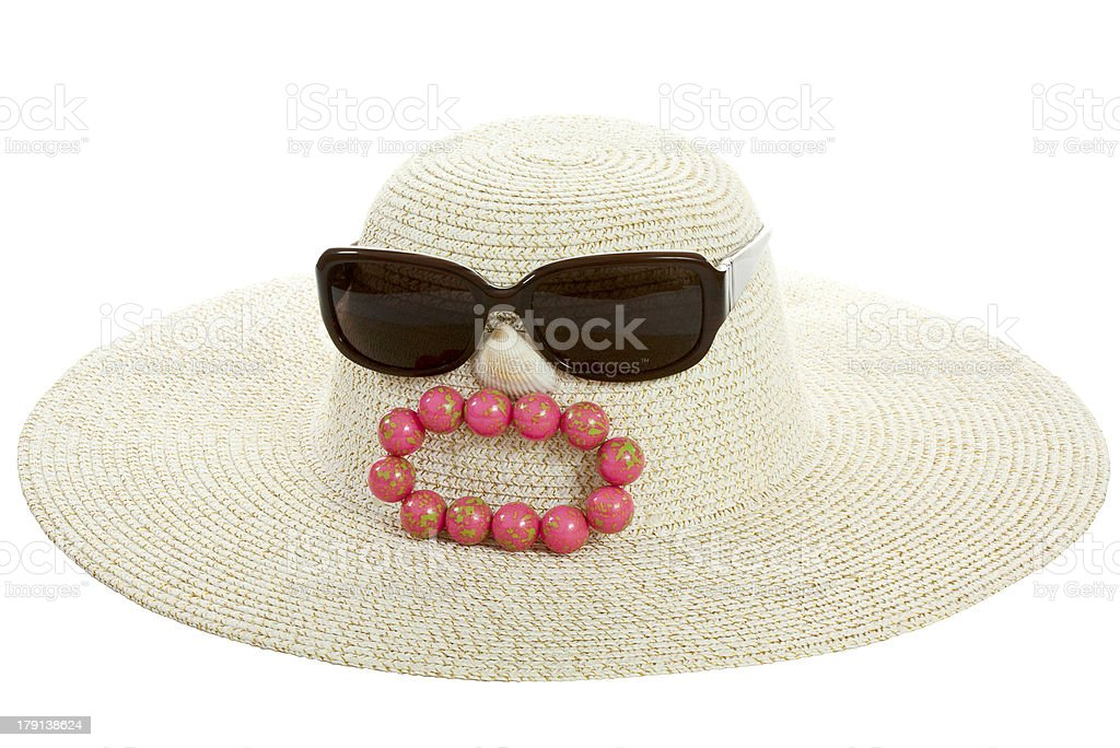 Hat - a caricature of disgruntled tourists royalty-free stock photo