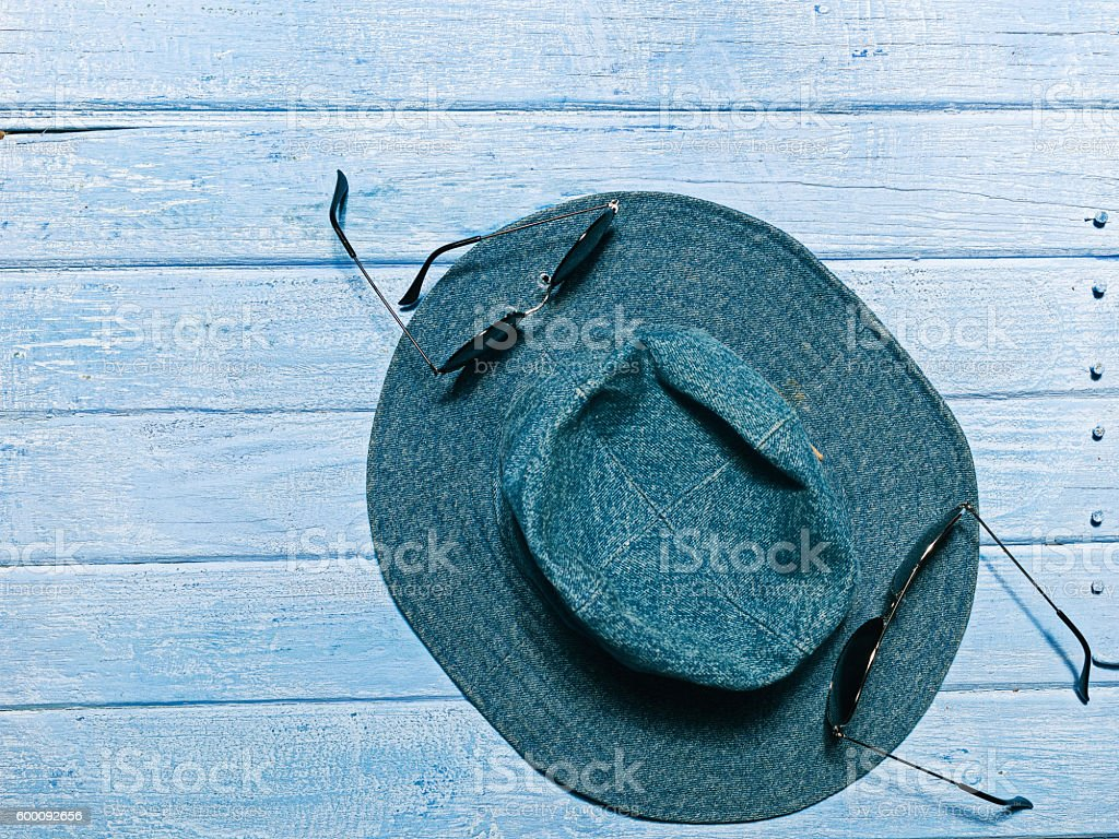 Hat and eyewear stock photo