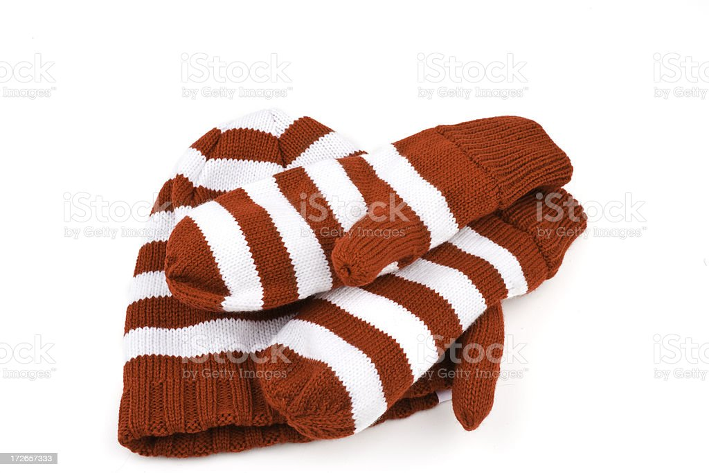 Hat and gloves stock photo