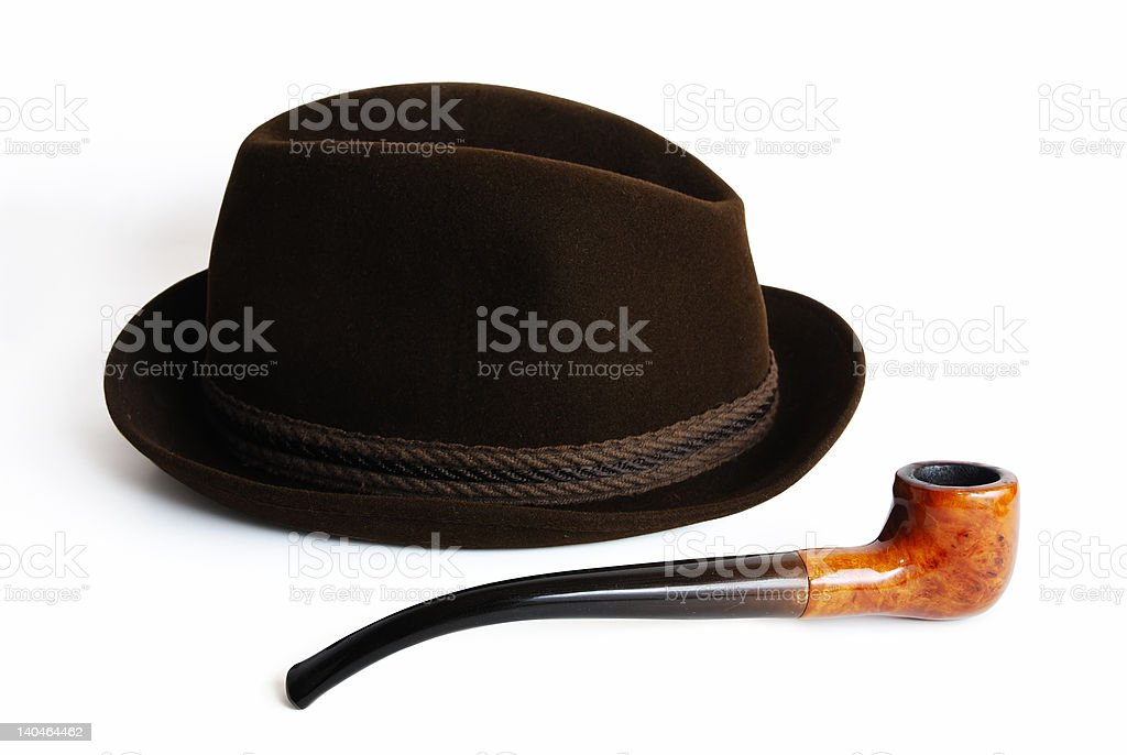 Hat and pipe stock photo