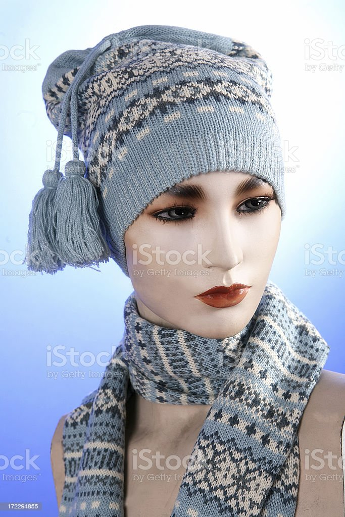 hat and scarf royalty-free stock photo