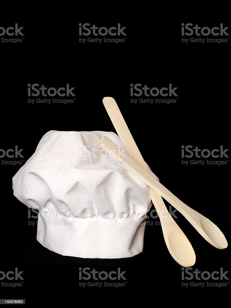 Hat and spoons royalty-free stock photo