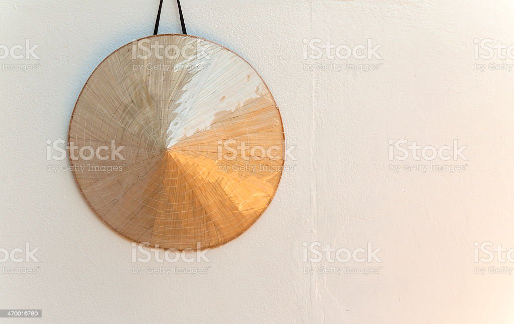 Hat and white wall royalty-free stock photo