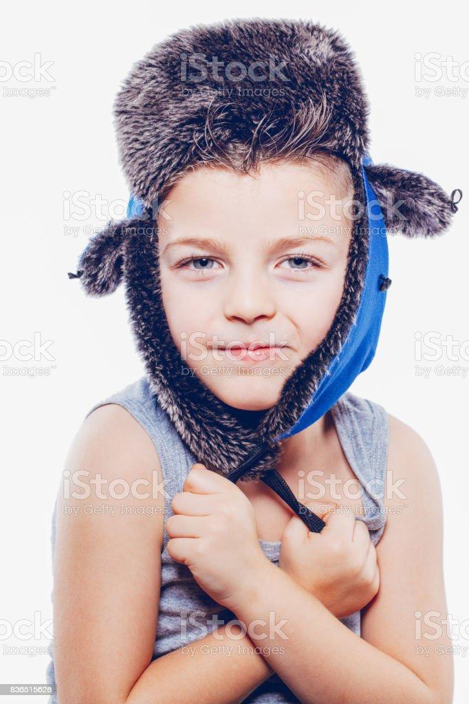 Hat child stock photo