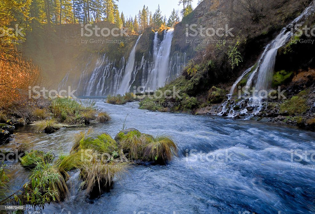 Hat Creek below tbe Burney Falls, Northern California stock photo