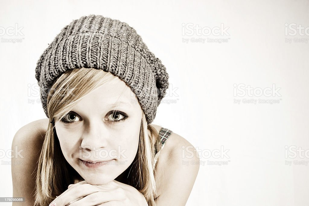 Hat Girl royalty-free stock photo