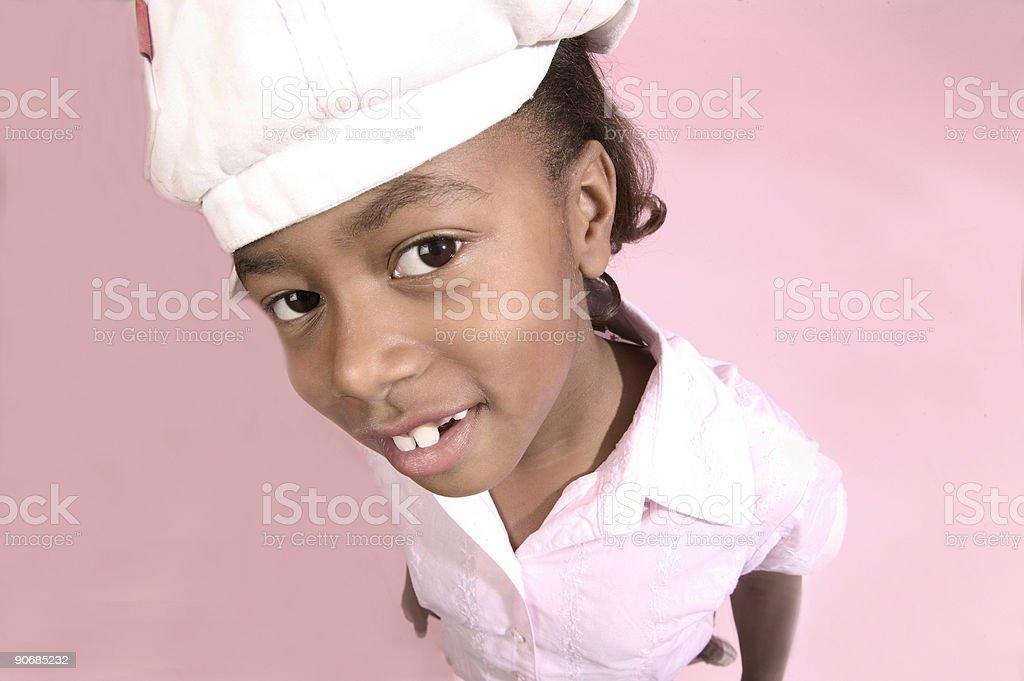 hat girl royalty-free stock photo
