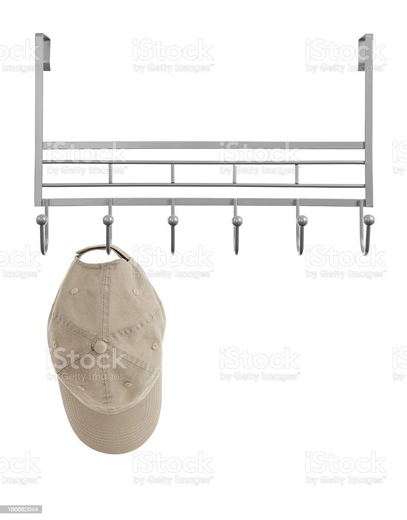 Hat Hanging on Rack stock photo