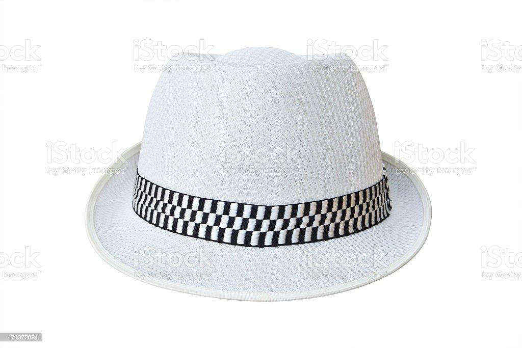 Cappello isolato su sfondo bianco con percorso clip foto stock royalty-free