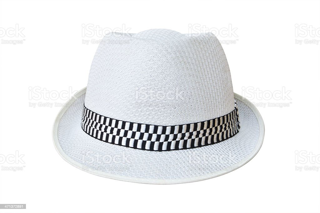 hat isolated on white background with clipping path stock photo