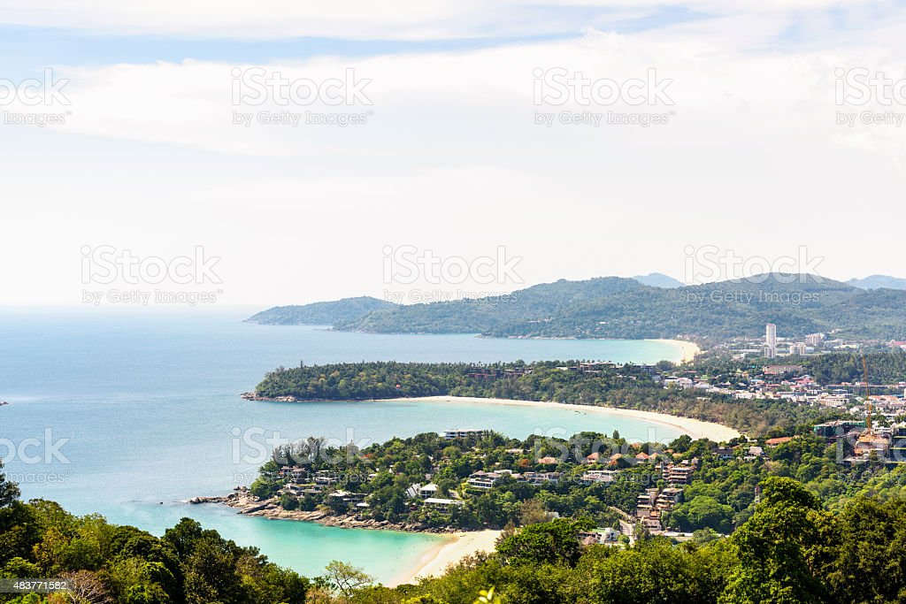 Hat Kata Karon Viewpoint in Phuket island stock photo