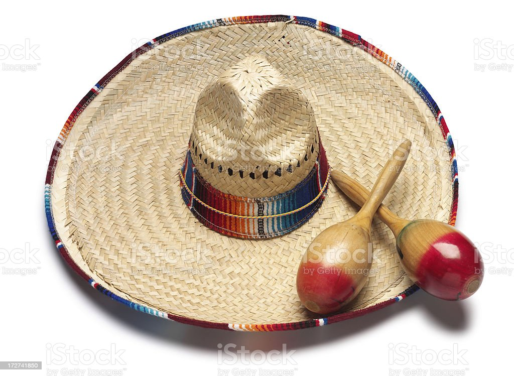 Sombrero & Maracas stock photo
