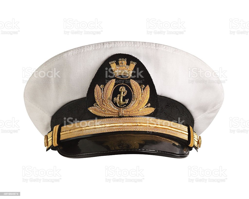 Hat naval officer Front stock photo