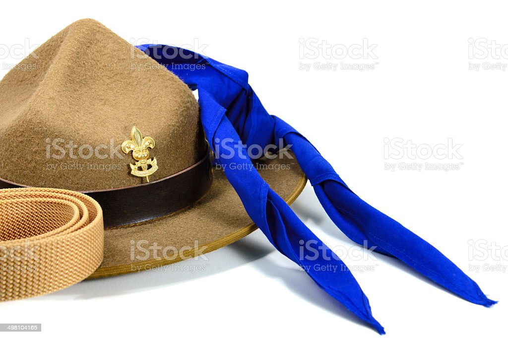 hat of scout stock photo