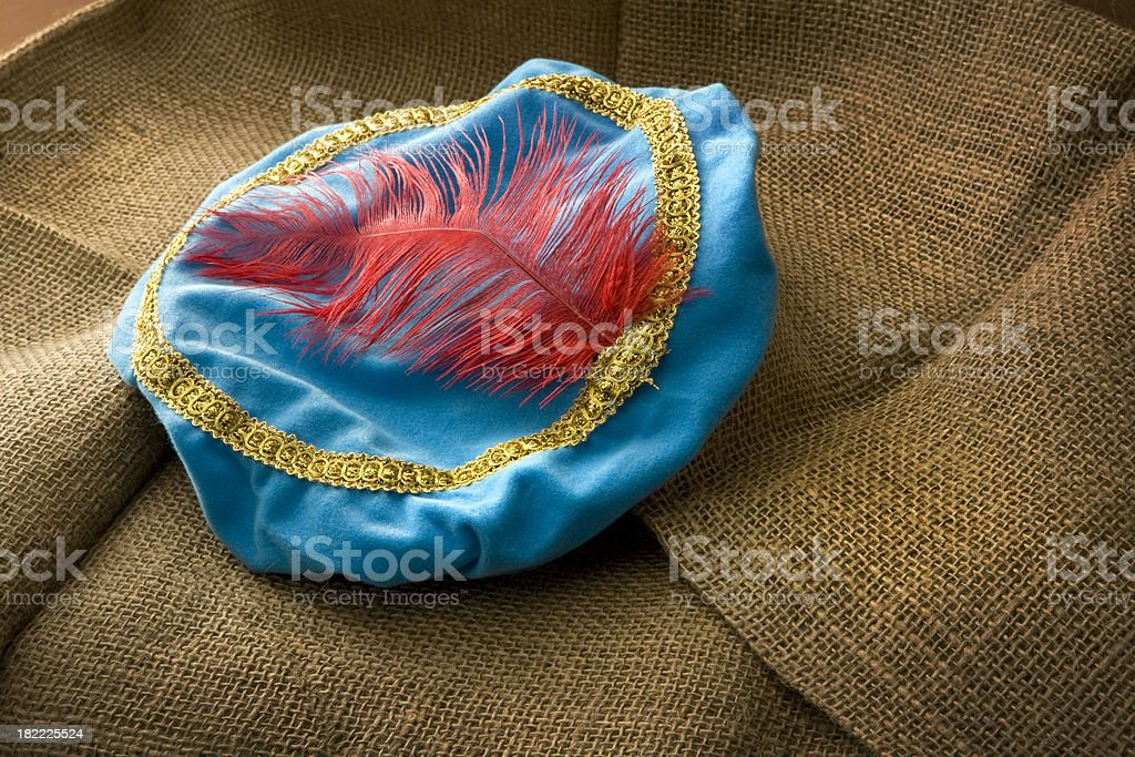 Hat of Zwarte Piet stock photo