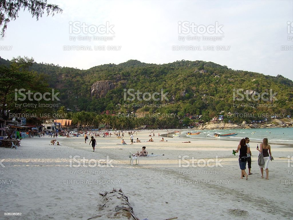 Hat Rin beach, Koh Phangan - Thailand stock photo
