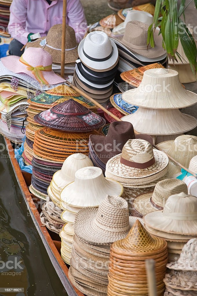 Hat selling. stock photo