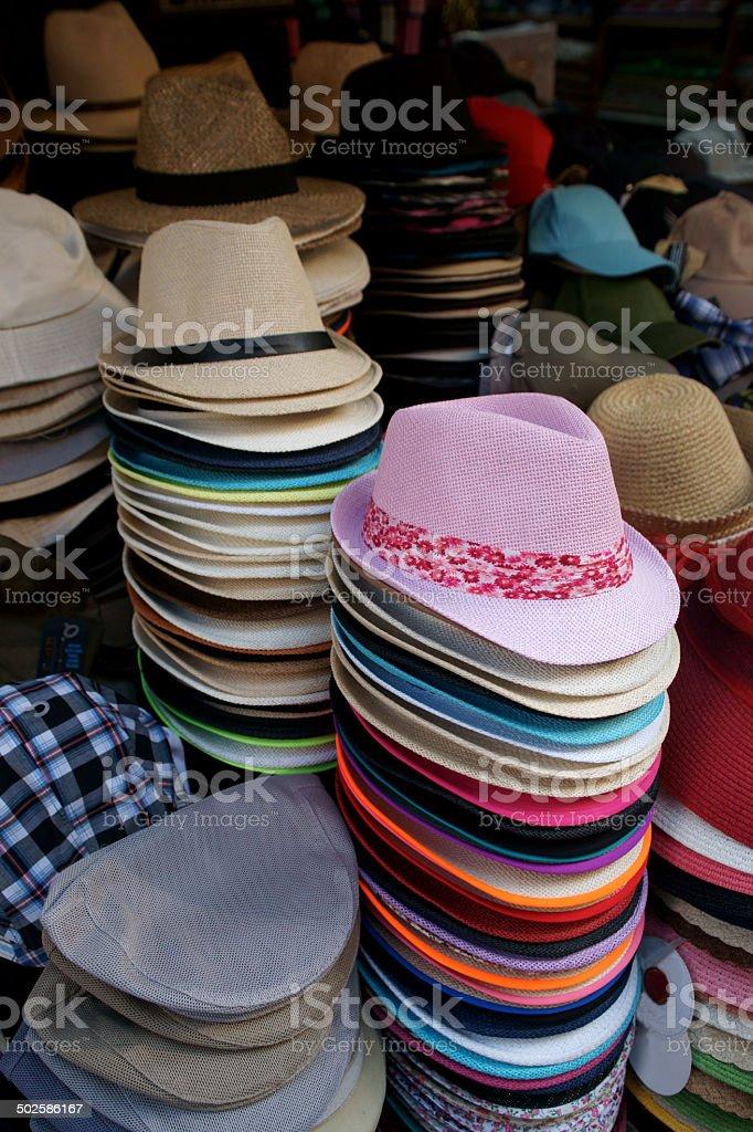 hat shop stock photo
