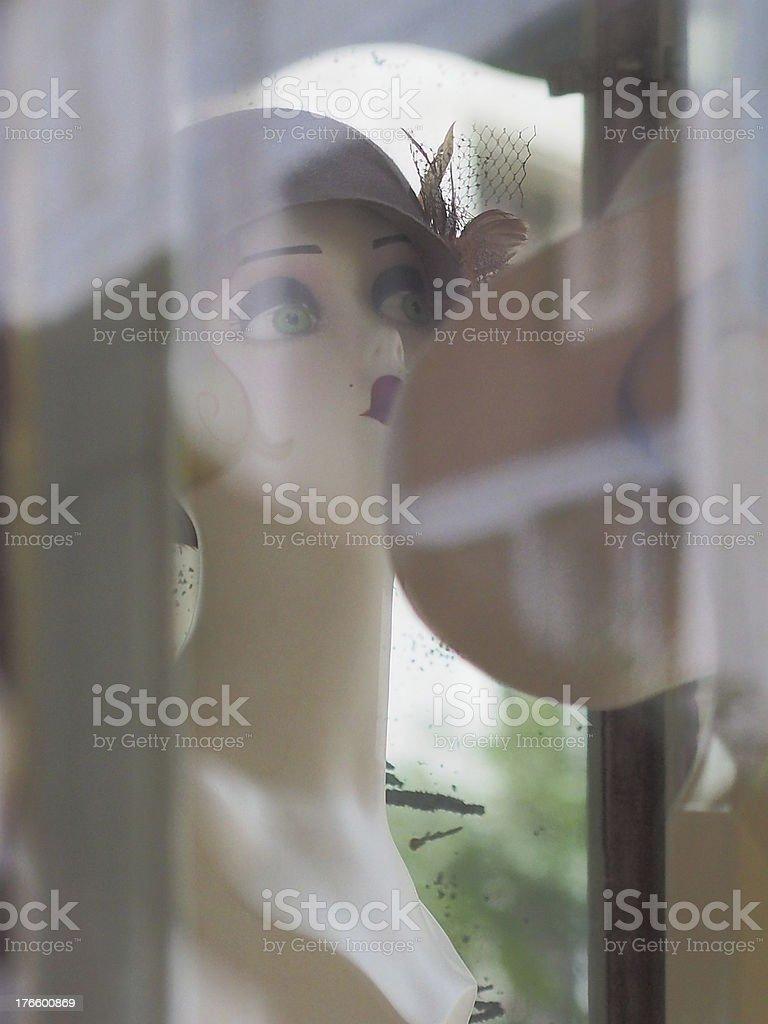 Шляпа магазин окно Стоковые фото Стоковая фотография