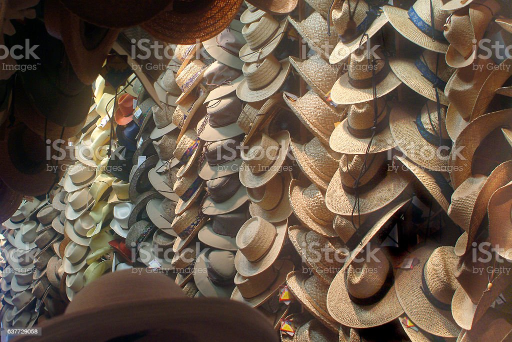 Hat Store stock photo