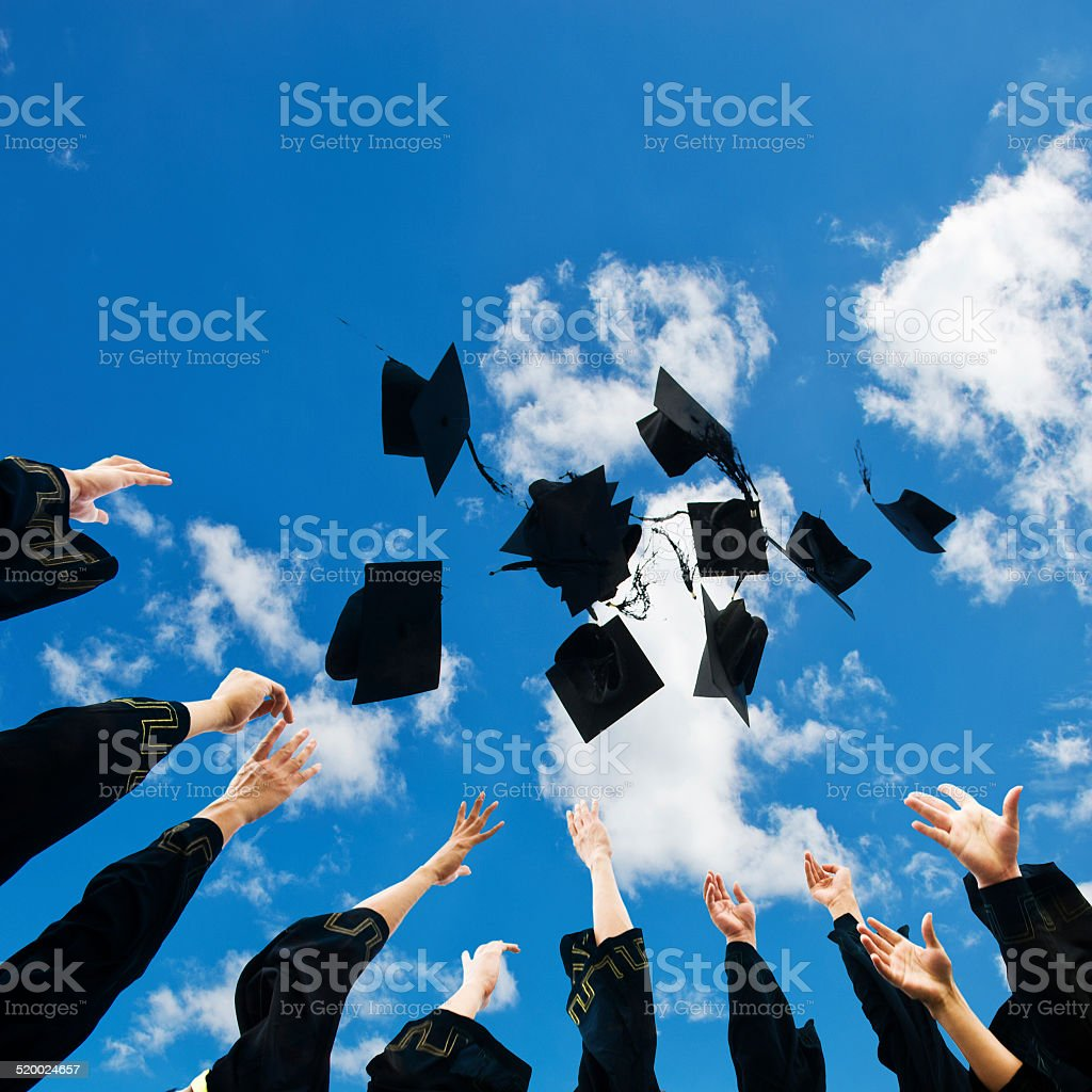 hat toss stock photo