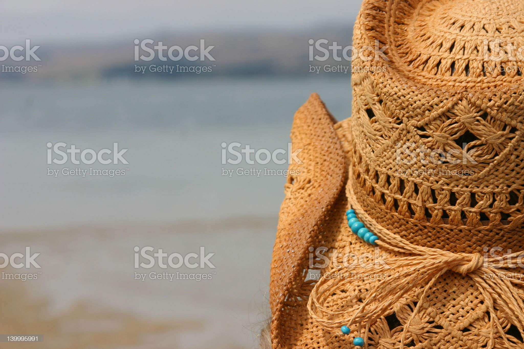 Hat With A View royalty-free stock photo