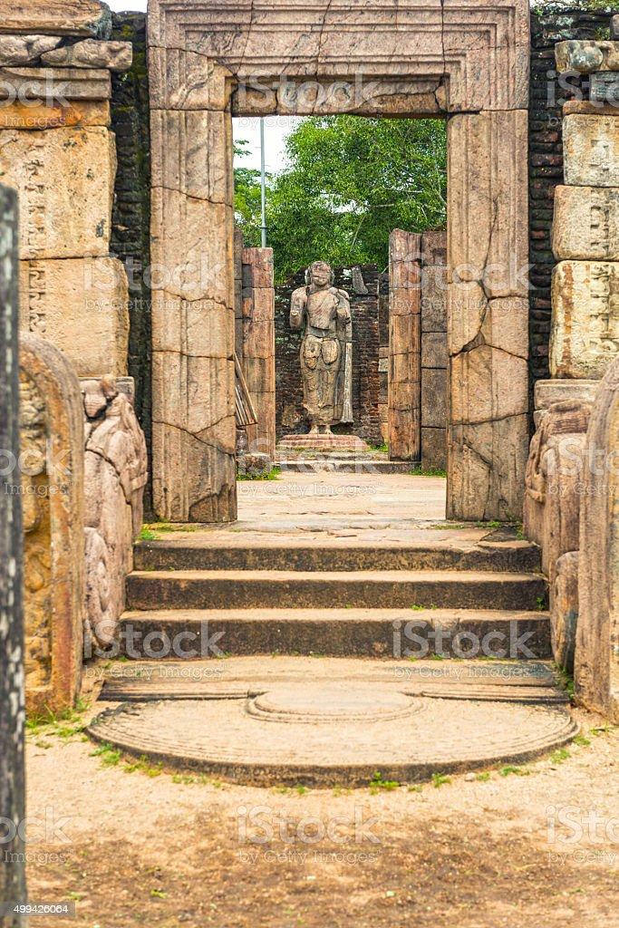 Hatadage, Polonnaruwa, Sri Lanka stock photo