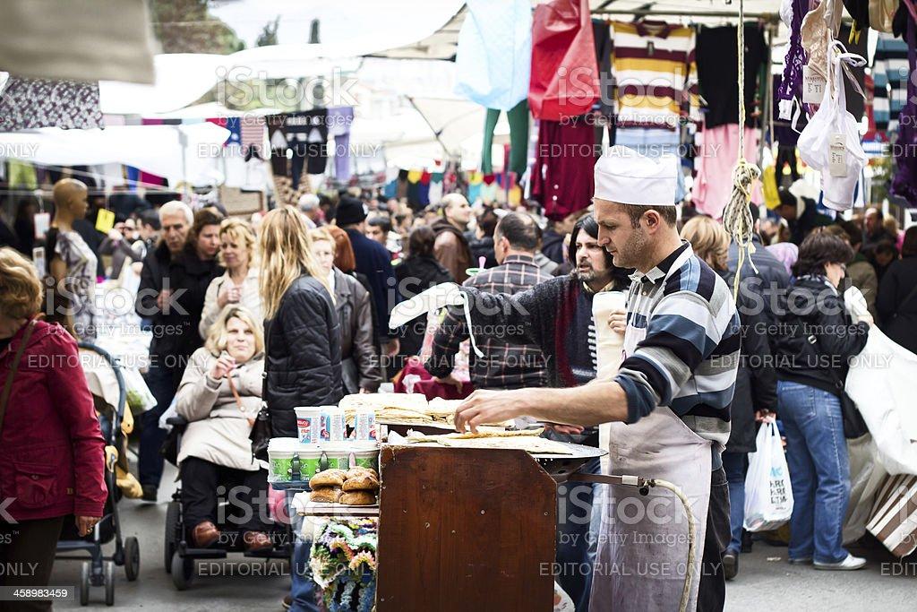 Hatay Bazaar in Izmir royalty-free stock photo