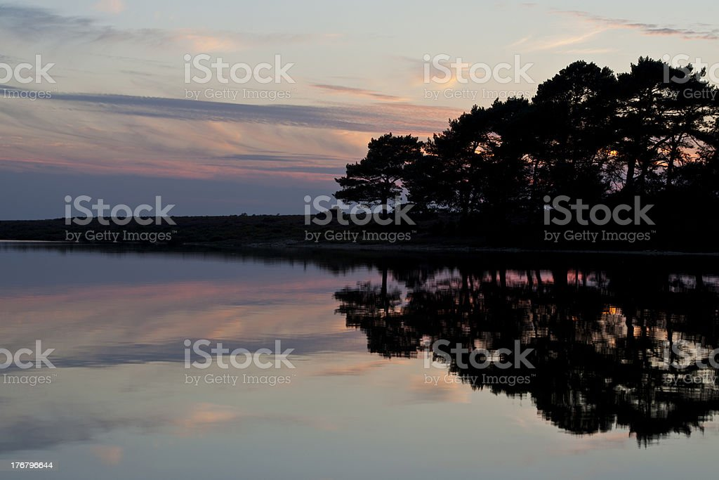 Hatchet Pond Sunset stock photo