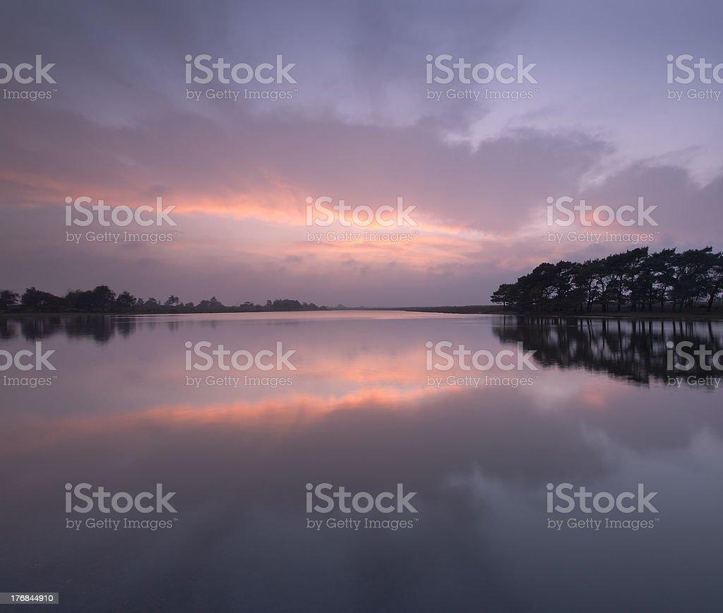 Hatchet Pond Sunset royalty-free stock photo