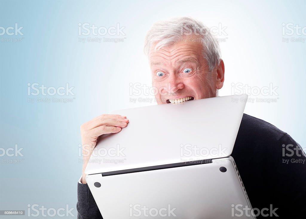 Hate computer stock photo