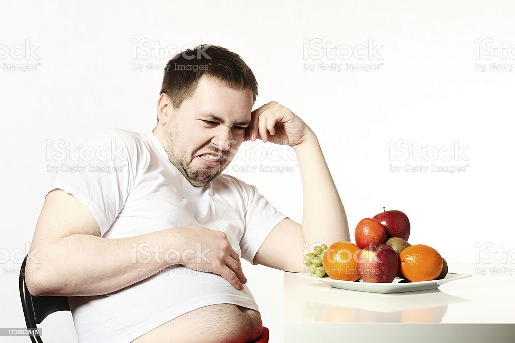 I hate fruits! royalty-free stock photo
