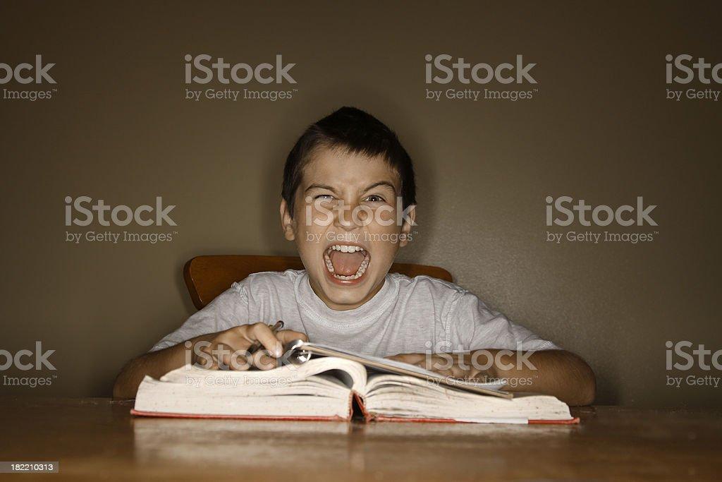 I hate homework! royalty-free stock photo
