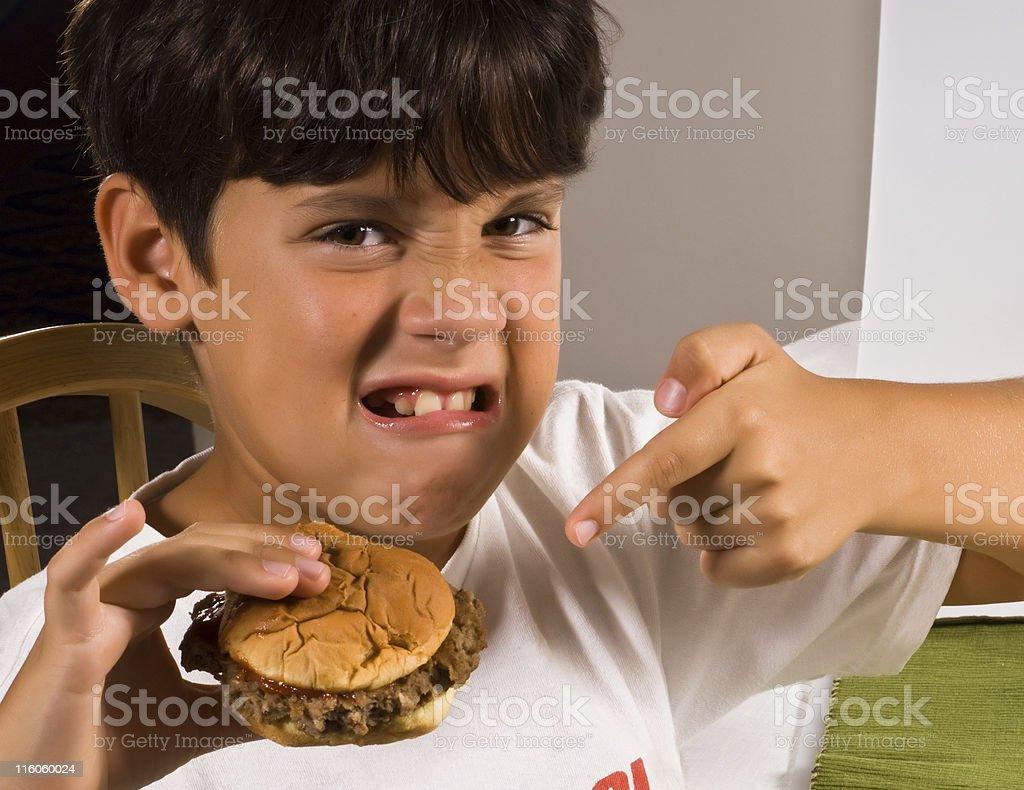 I hate junk food stock photo
