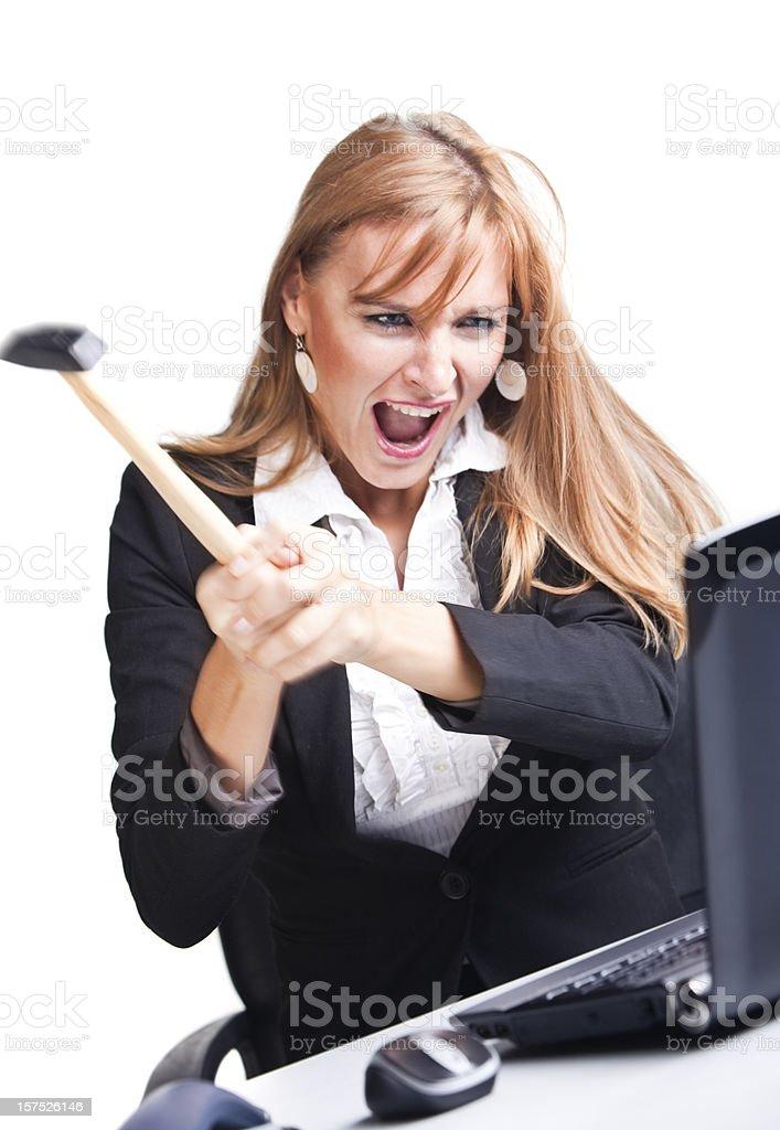 I hate laptop! royalty-free stock photo