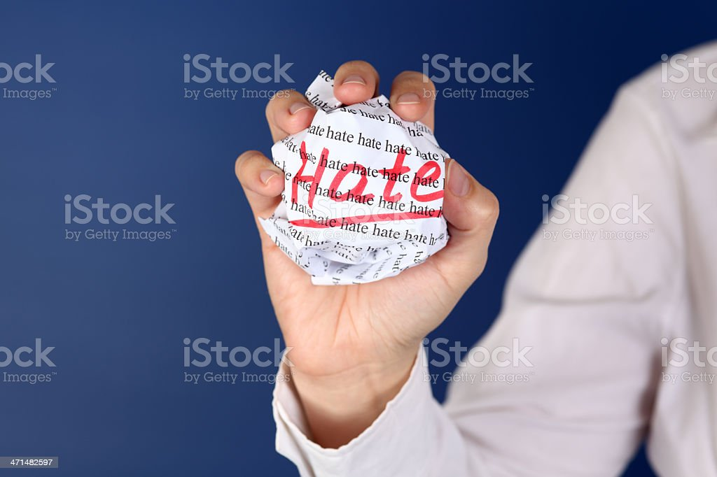 Hate royalty-free stock photo
