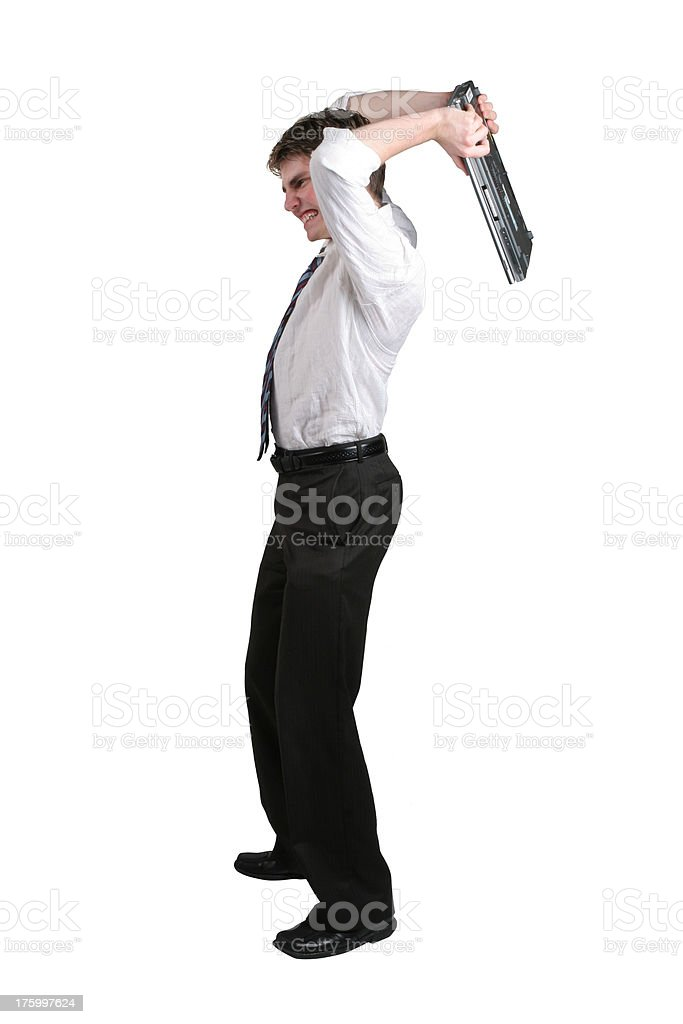I hate this computer stock photo