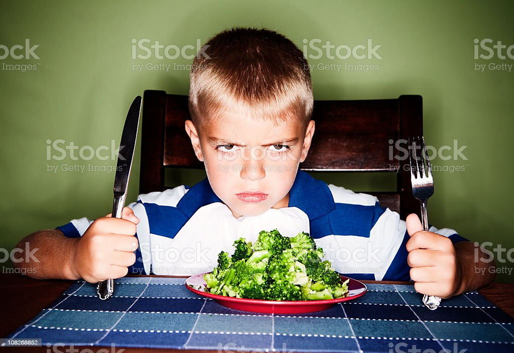 I Hate Vegetables royalty-free stock photo