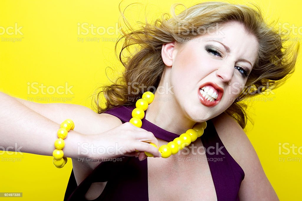 I Hate Wearing This! stock photo