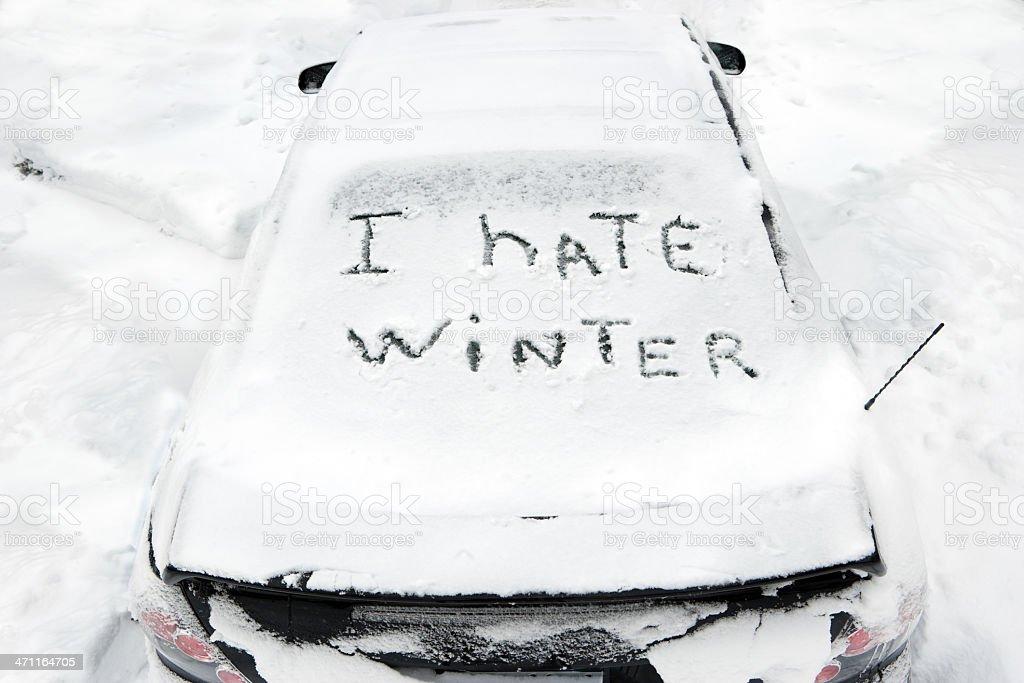 I hate winter stock photo