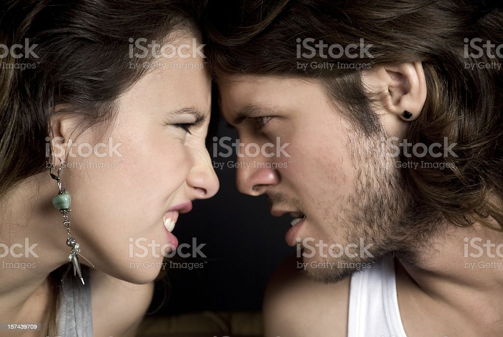 Hate you! royalty-free stock photo