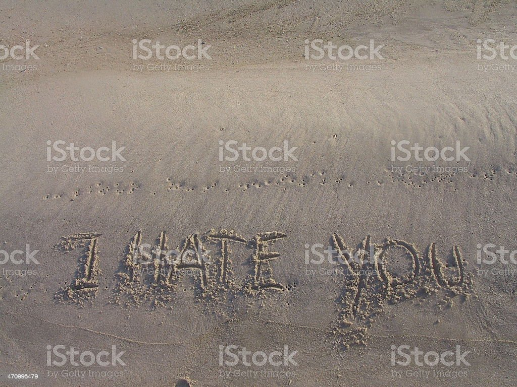 I Hate You royalty-free stock photo