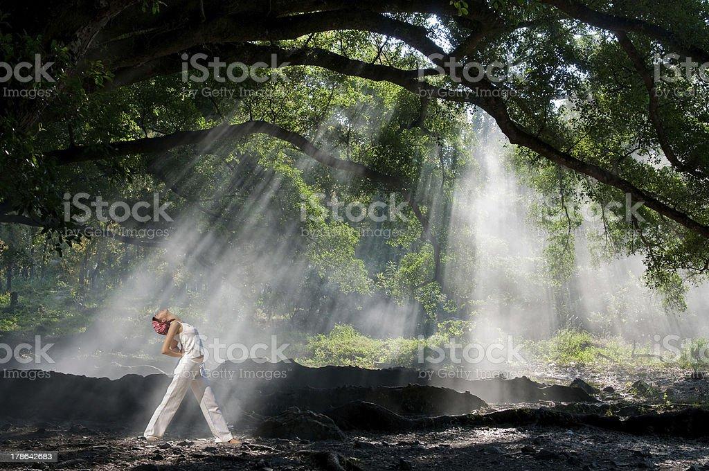Hatha Yoga stock photo