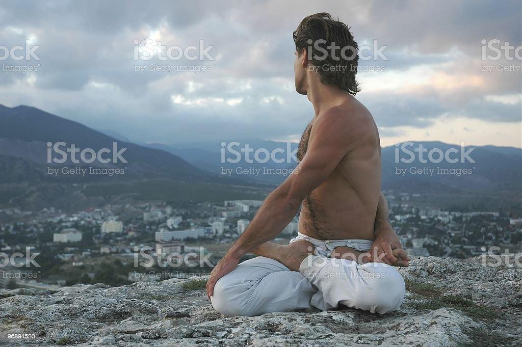 Hatha-yoga: padmasana #2 stock photo