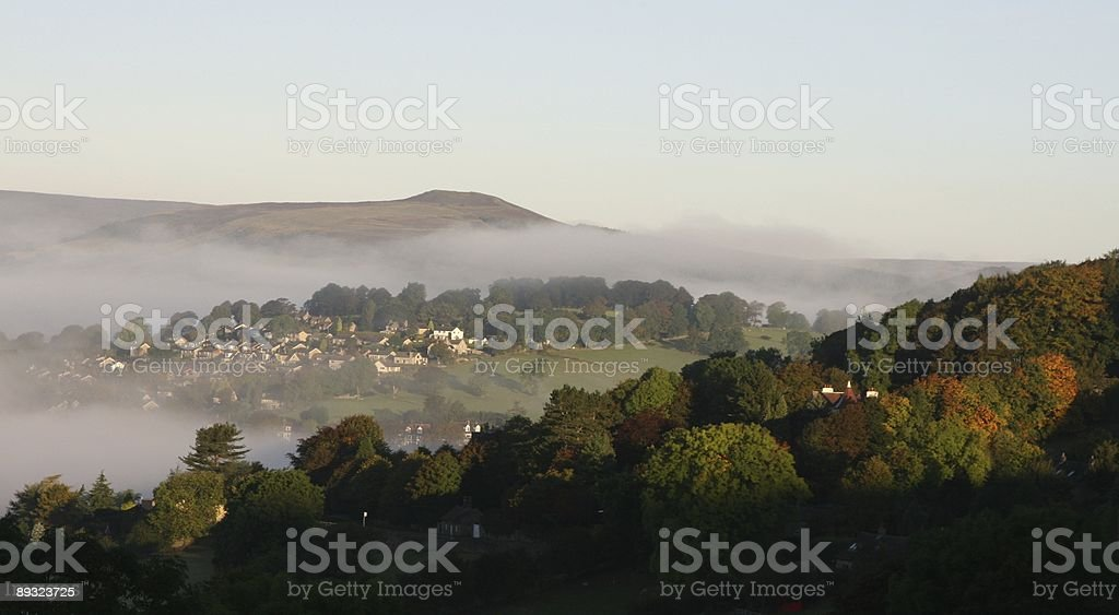 Hathersage in the Peak District National Park stock photo