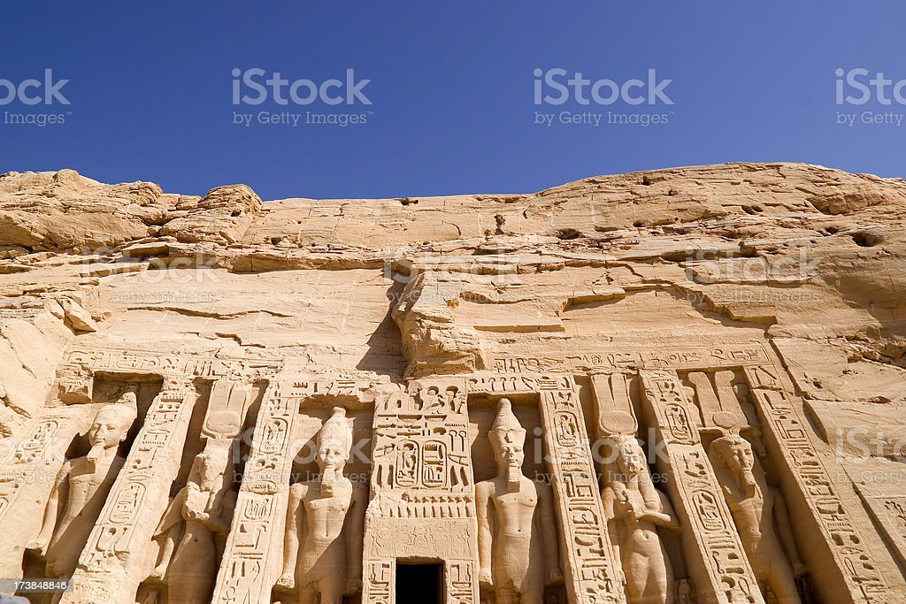 Hathor Temple stock photo